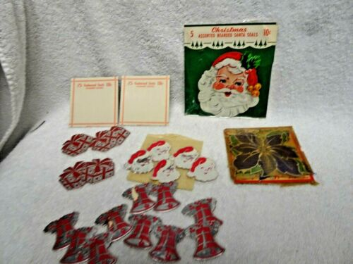 Christmas Santa Seals And Assorted Lot