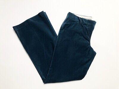 NWT Express Design Studio Editor Velvet Pants Size 8 Straight Leg Blue Green
