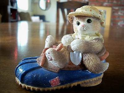 1997 Enesco Calico Kittens Figurine You're Good For My Sole 314544