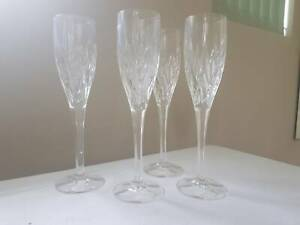 Champagne Flutes - Crystal -  130ml Set of 4