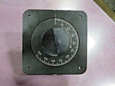 Weinschel Model 6161 Attenuation Dial 6 -120 Db