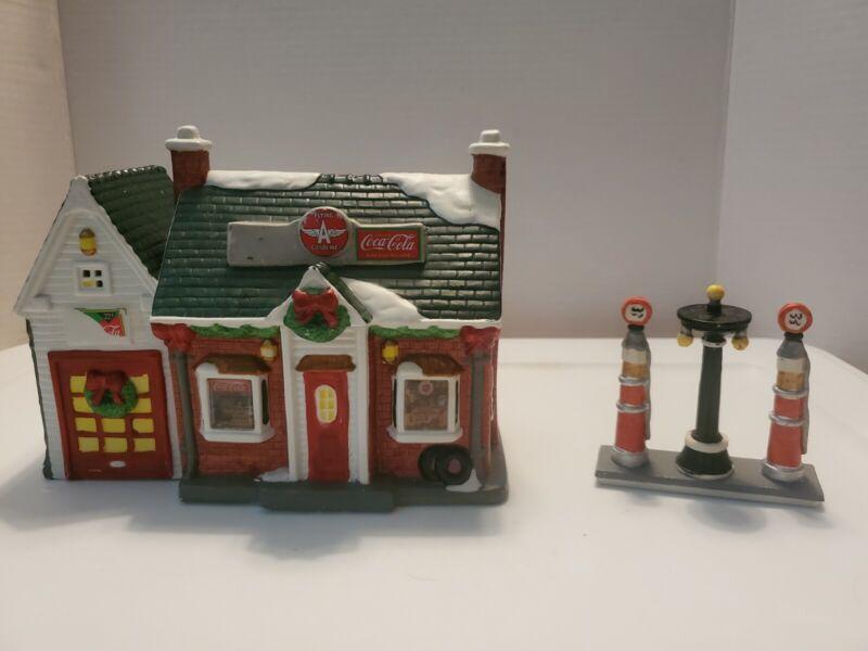 Coca Cola Flying A Gasoline 1993 Christmas Village