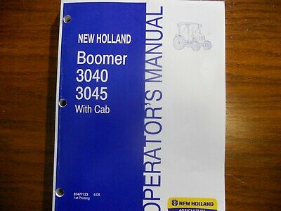 New Holland Boomer 3040 3045 Tractor Operators Wcab Manual Free Shipping Usa