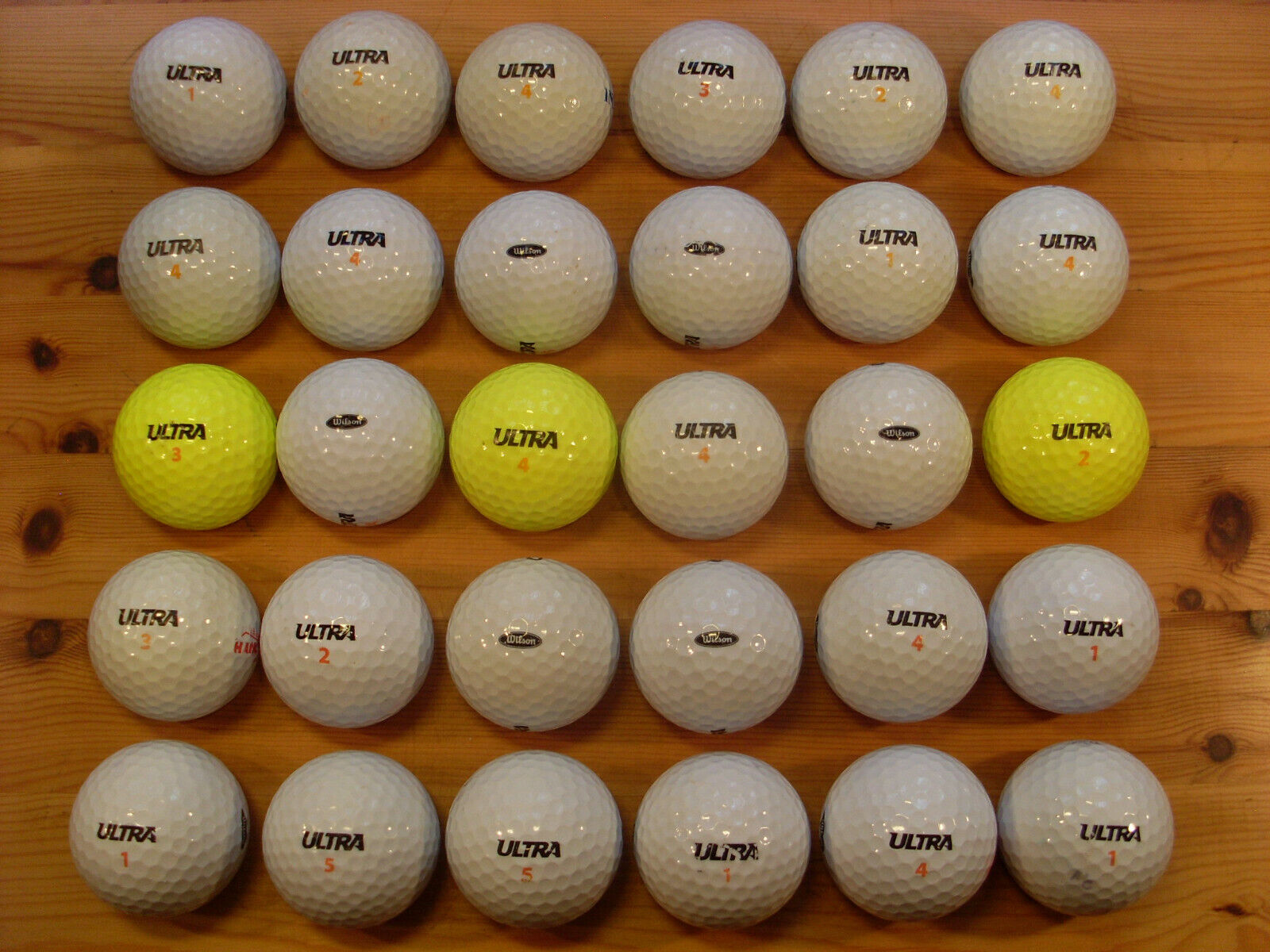 30 WILSON ULTRA gebrauchte Golfbälle Lakeballs