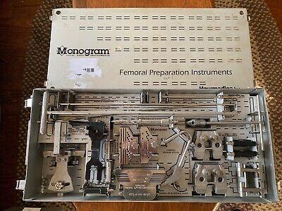 Monogram Howmedica Femoral Preparation Instruments Case 6633-9-200