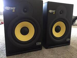 KRK Rokit 8 G3 pair with power cables Forest Hill Whitehorse Area Preview