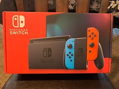 Nintendo Switch 32 GB Console - Neon Blue/Red Joy-Con In Hand