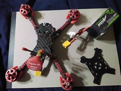 HGLRC Batman 220mm Racing Drone with lots of extras. 5mm arms carbon fiber build