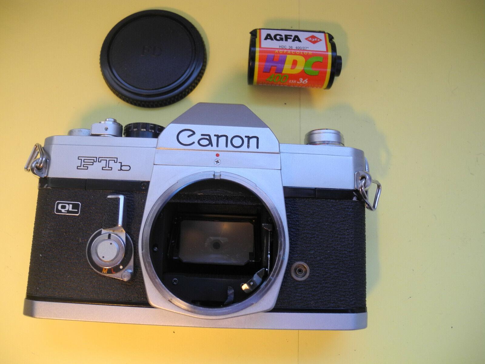 Canon FTb QL SLR Kamera Spiegelreflex Kleinbild orig. Kameradeckel  Body #106803