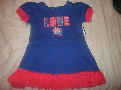 size 18 Month TEXAS RANGERS LOVE GIRL'S BASEBALL Cheer UNIFORM DRESS - Texas Ranger Costume