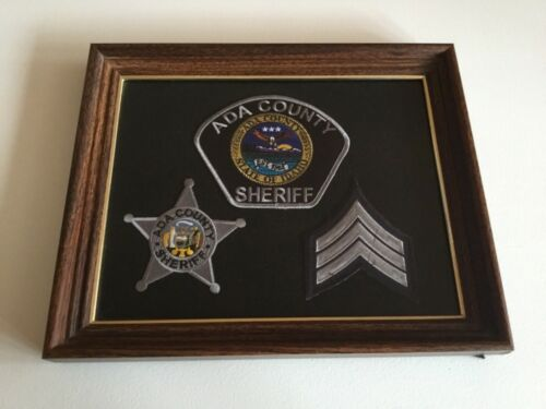 IDAHO ADA COUNTY SHERIFF PATCHES SERGEANT PATCH NEW FRAMED