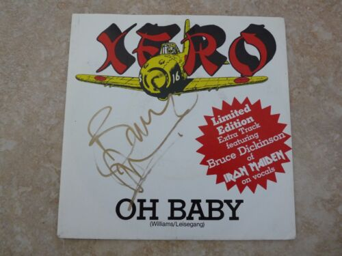 "Iron Maiden Bruce Dickinson Signed XERO Hold On 7"" LP Single BECKETT Certified"