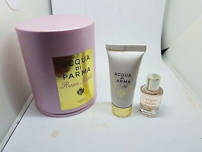 ACQUA DI PARMA Rosa Nobile 5 ml 0.16 oz Set Mini Size Splash , Body Cream  Acqua Di Parma Body Cream