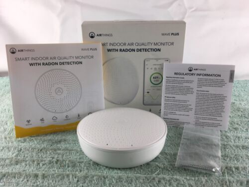 Airthings (2930) Smart Indoor Air Quality Monitor w/ Radon Detection - USED