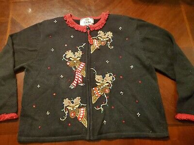 Ugly Christmas sweater*Ladies Petite XL*Rudolph** ()