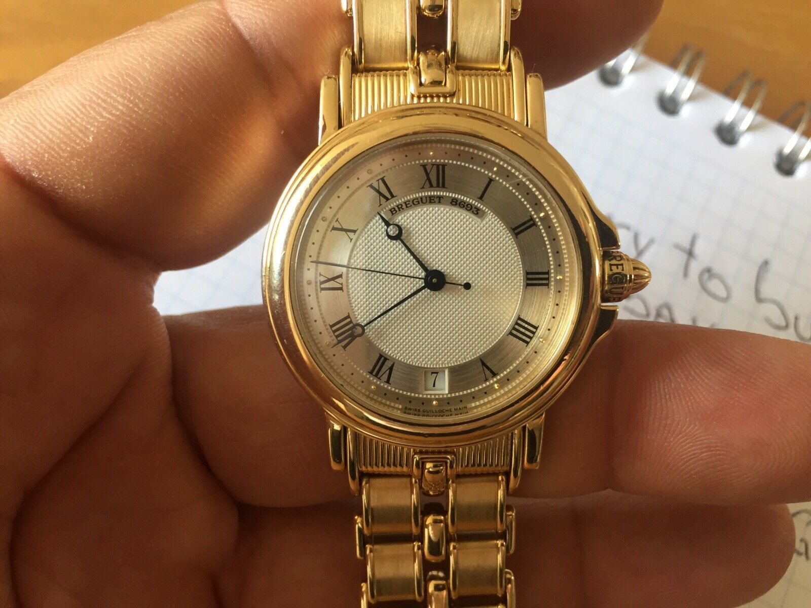 Breguet Marine Automatique in 18K. YG Complete 33mm 149 grams with Authentic Box - watch picture 1