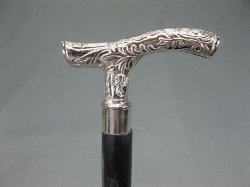 Godha Head Silver Handle Victorian king Design Wooden Walking Cane Stick Vintage