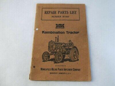 Minneapolis-moline Kombination Tractor R739f Repair Parts List