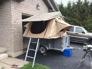 Smitty Built pop up tent and trailer