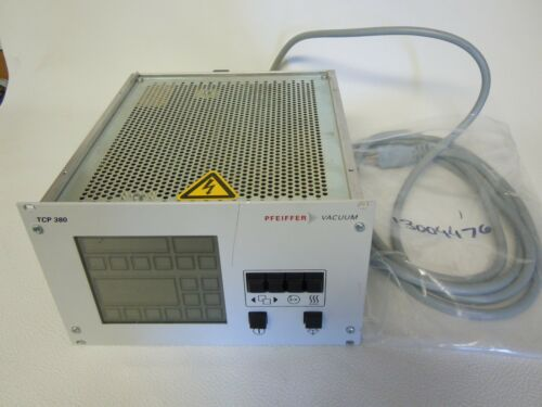 PFEIFFER VACUUM PUMP CONTROLLER TCP 380 PLUS POWER CORD.
