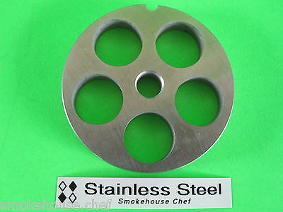12 X 34 Ss Meat Grinder Chopper Plate Disc For Hobart Lem Cabelas Etc.