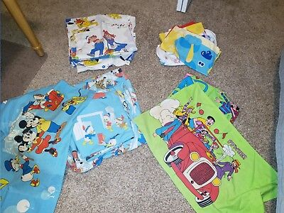 Vintage Sheet Lot for Sale- Mickey, Archie Comics, Raggedy Ann, Blues Clues - Raggedy Ann For Sale
