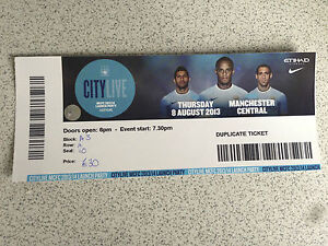 MANCHESTER CITY 08.08.2013 CITY LIVE LAUNCH PARTY ** RARE **