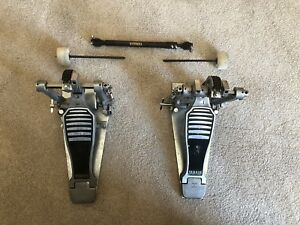 Yamaha Double Kick Pedals with heavy duty base plates.