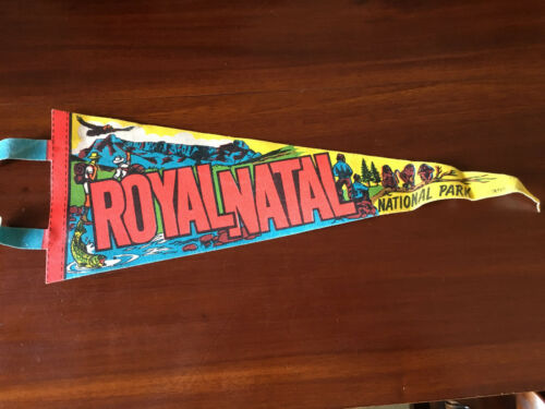 Vintage American travel Pennants/Flags Royal Natal National park