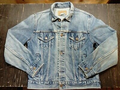 Men's Vintage Denim Jacket Made in USA Size Small Sears Roebuck