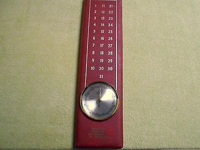 Hygrometer - Werbeaufdruck - defekt - rot - mit Kalender - 60er oder 70er Jahre
