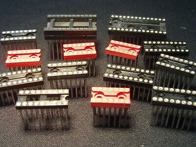 Qty 15 Quality Wire Wrap Ic Sockets 14 16 18 20 24 28 Pin Nos Please Read Nos