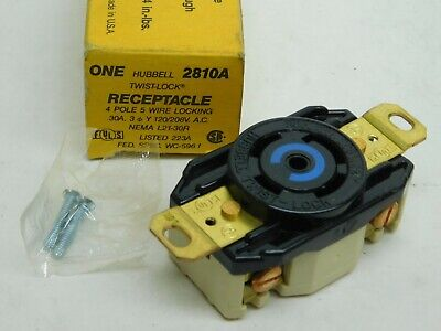 Hubbell Receptacle w// Outlet Box 30A 480V 3Ph 4W Used