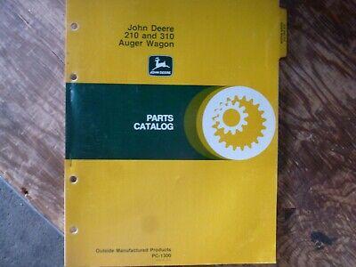 John Deere 210 310 Auger Wagon Parts Catalog Manual Book Original Pc-1300