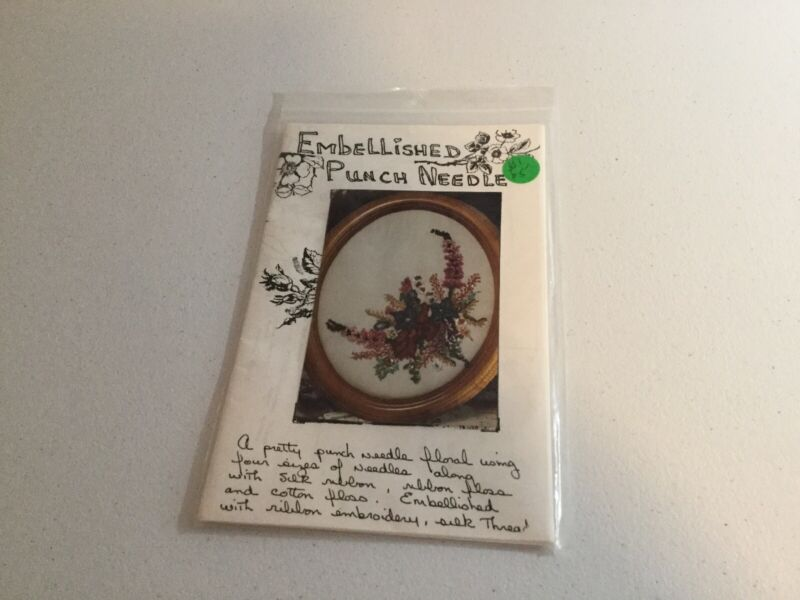 Embellished Punch Needle Floral Pattern By Judith Montano