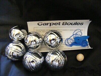 2 Chrome Balls Details about  /Vintage Obut Lawn Bowling Petanque Boules