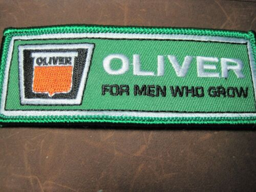 """FARM TRACTOR PATCH OLIVER """"FOR MEN WHO GROW""""  TRACTOR LOOK AND BUY NOW! RANCHING"""