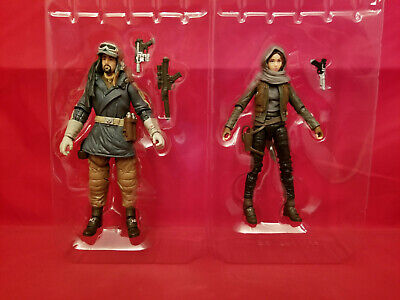 "Star Wars 6"" Black Series #22 & 23 - Jyn Erso Cassian Andor Action Figure Lot"