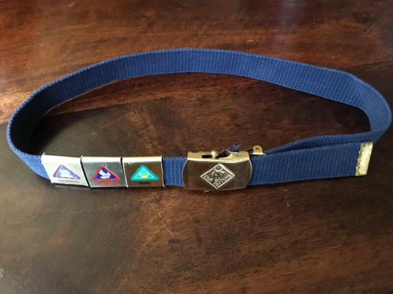 Cub Scouts Belt W/ Brass Buckle