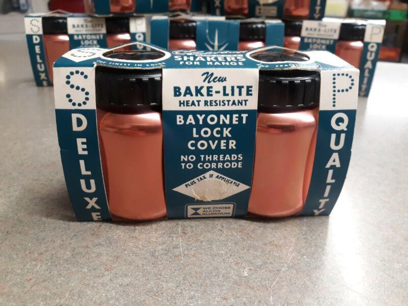 Color Craft Copper Colored Bake-Lite Salt Pepper Range Shakers 8 Available NOS