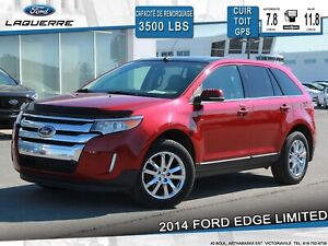 2014 Ford Edge LIMITED**AWD*CUIR*TOIT*GPS*CAMERA*A/C**