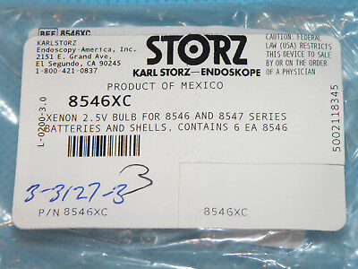 Storz 8546xc Xenon Bulb 2.5v For Use With 8546 Or 8547 Series Battery Shells