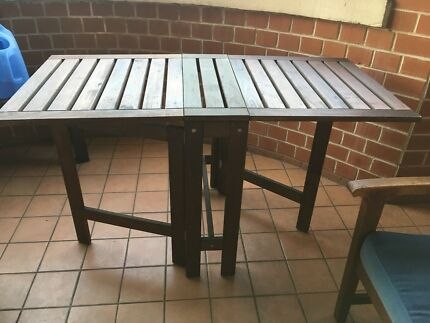 IKEA ÄPPLARÖ Gateleg table, outdoor table, 133x62 cm