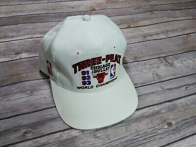 Chicago Bulls NBA 1993 Championship 3 Peat Snapback Hat Vintage Specialties
