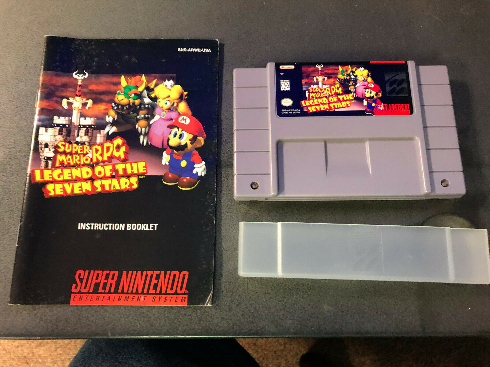 Super Mario RPG Legend Of The Seven Stars Super Nintendo SNES, 1996 W/ Manual - $136.75