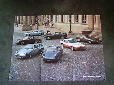 1979 / 1980 Model PORSCHE UK RANGE BROCHURE 911 SC / Turbo + 924 inc Turbo 928 S
