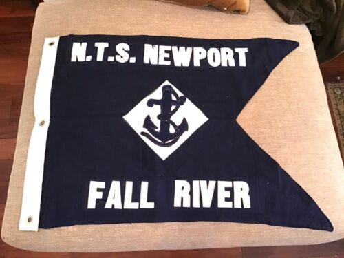 Fantastic Vintage 1940's NTS Newport Fall River Maritime Ships Flag, Nautical