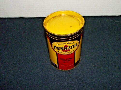 Vintage Pennzoil Safe Lubrication Wheel Bearing Lubricant Tin 1lb size