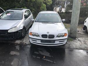 BMW E46 318i 1999 white automatic now wrecking Northmead Parramatta Area Preview