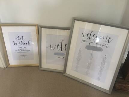 Wedding Photo Frames  Welcome Sign, Seating Chart, Polaroid Table